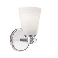 Picture for category Bathroom Vanity 1 Light With Satin Nickel Finish A19 Bulb Type 5 inch 100 Watts