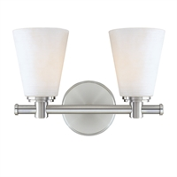 Picture for category Bathroom Vanity 2 Light With Polished Nickel Finish A19 Bulbs 12 inch 200 Watts