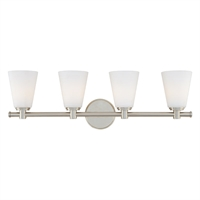 Picture for category Bathroom Vanity 4 Light With Polished Nickel Finish A19 Bulbs 28 inch 400 Watts
