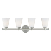 Picture for category Bathroom Vanity 4 Light With Satin Nickel Finish A19 Bulb Type 28 inch 400 Watts