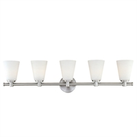 Picture for category Bathroom Vanity 5 Light With Polished Nickel Finish A19 Bulbs 36 inch 500 Watts