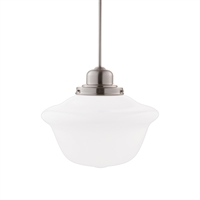 Picture for category Pendants 1 Light With Satin Nickel Tone Finished A19 Bulb Type 15 inch 100 Watts