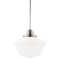 Picture for category Pendants 1 Light With Satin Nickel Tone Finished A19 Bulb Type 17 inch 100 Watts