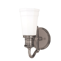 Picture for category Bathroom Vanity 1 Light With Antique Nickel Finished A19 Bulbs 5 inch 100 Watts