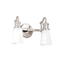 Picture for category Bathroom Vanity 2 Light With Polished Nickel Finish A19 Bulbs 14 inch 200 Watts