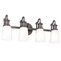 Picture for category Bathroom Vanity 4 Light With Antique Nickel Finished A19 Bulbs 24 inch 400 Watts
