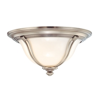 Picture for category Flush Mounts 1 Light With Antique Nickel Finished A19 Bulb Type 11 inch 60 Watts