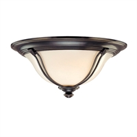 Picture for category Flush Mounts 1 Light With Old Bronze Tone Finish A19 Bulb Type 11 inch 60 Watts