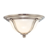 Picture for category Flush Mounts 2 Light With Antique Nickel Finish A19 Bulb Type 14 inch 120 Watts
