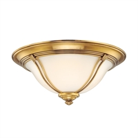 Picture for category Flush Mounts 2 Light With Flemish Brass Finished A19 Bulb Type 14 inch 120 Watts
