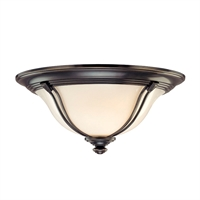Picture for category Flush Mounts 2 Light With Old Bronze Tone Finish A19 Bulb Type 14 inch 120 Watts