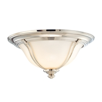 Picture for category Flush Mounts 2 Light With Polished Nickel Finish A19 Bulb Type 14 inch 120 Watts