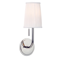 Picture for category Wall Sconces 1 Light With Polished Nickel Finished Medium Bulbs 6 inch 60 Watts