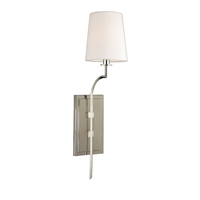 Picture for category Wall Sconces 1 Light With Polished Nickel Finish Candelabra Bulbs 6 inch 60 Watts