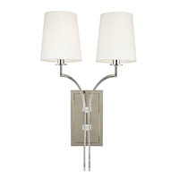 Picture for category Wall Sconces 2 Light With Polished Nickel Finish Candelabra Bulbs 13 inch 120 Watts