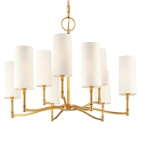 Picture for category Chandeliers 9 Light With Aged Brass Finished Candelabra Bulbs 23 inch 540 Watts