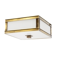 Picture for category Flush Mounts 2 Light With Aged Brass Tone Finish A19 Bulb Type 13 inch 120 Watts