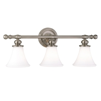 Picture for category Bathroom Vanity 3 Light With Satin Nickel Finish A19 Bulb Type 25 inch 300 Watts