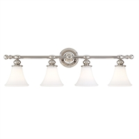 Picture for category Bathroom Vanity 4 Light With Polished Nickel Finish A19 Bulbs 34 inch 400 Watts