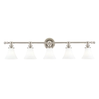 Picture for category Bathroom Vanity 5 Light With Polished Nickel Finish A19 Bulbs 43 inch 500 Watts