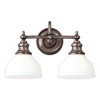 Picture for category Bathroom Vanity 2 Light With Antique Nickel Finished A19 Bulbs 16 inch 200 Watts