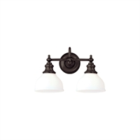 Picture for category Bathroom Vanity 2 Light With Old Bronze Finished A19 Bulb Type 16 inch 200 Watts