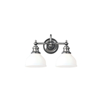 Picture for category Bathroom Vanity 2 Light With Polished Nickel Finish A19 Bulbs 16 inch 200 Watts
