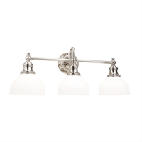 Picture for category Bathroom Vanity 3 Light With Polished Nickel Finish A19 Bulbs 26 inch 300 Watts