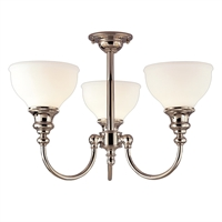Picture for category Semi Flush 3 Light With Polished Nickel Finished A19 Bulb Type 15 inch 300 Watts