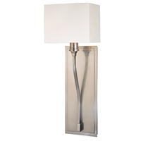 Picture for category Wall Sconces 1 Light With Satin Nickel Finished Candelabra Bulbs 7 inch 60 Watts
