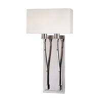 Picture for category Wall Sconces 2 Light With Polished Nickel Finish Candelabra Bulbs 10 inch 120 Watts
