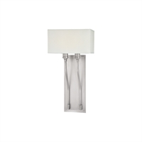 Picture for category Wall Sconces 2 Light With Satin Nickel Finish Candelabra Bulbs 10 inch 120 Watts