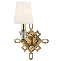 Picture for category Wall Sconces 1 Light With Aged Brass Finished Candelabra Bulbs 10 inch 60 Watts