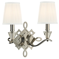 Picture for category Wall Sconces 2 Light With Polished Nickel Finish Candelabra Bulbs 15 inch 120 Watts