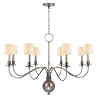 Picture for category Chandeliers 8 Light With Aged Silver Finished Candelabra Bulbs 28 inch 320 Watts