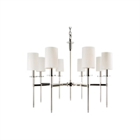 Picture for category Chandeliers 8 Light With Polished Nickel Finish Candelabra Bulbs 27 inch 480 Watts