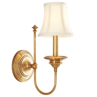 Picture for category Wall Sconces 1 Light With Aged Brass Finish Candelabra Base Bulbs 6 inch 60 Watts