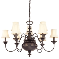 Picture for category Chandeliers 9 Light With Old Bronze Finished Candelabra Bulbs 24 inch 540 Watts