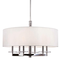 Picture for category Chandeliers 6 Light With Polished Nickel Finish Candelabra Bulbs 22 inch 360 Watts