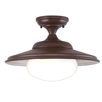 Picture for category Semi Flush Mounts 1 Light With Old Bronze Finish A19 Bulb Type 11 inch 100 Watts