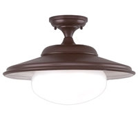 Picture for category Semi Flush Mounts 1 Light With Old Bronze Finish A19 Bulb Type 13 inch 100 Watts