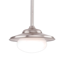 Picture for category Pendants 1 Light With Satin Nickel Tone In Finish A19 Bulb Type 9 inch 60 Watts