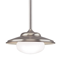 Picture for category Pendants 1 Light With Satin Nickel Tone Finished A19 Bulb Type 13 inch 100 Watts