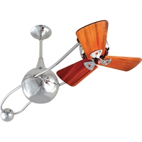 Picture for category Matthews Fan Company B2K-CR-WD-DAMP Indoor Ceiling Fans Polished Chrome High Gauge Steel/Aluminum Brisa 2000