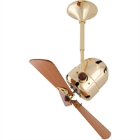 Picture for category Matthews Fan Company BD-BRBR-WD Indoor Ceiling Fans Brushed Brass High Gauge Steel/Aluminum Bianca Direcional