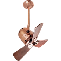 Picture for category Matthews Fan Company BD-CP-WD Indoor Ceiling Fans Polished Copper High Gauge Steel/Aluminum Bianca Direcional