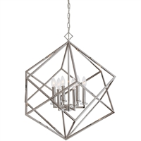 Picture for category Uttermost 22122 Pendants Polished Nickel Steel/K9 Crystal Euclid