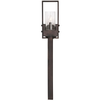 Picture for category Uttermost 22518 Wall Sconces Burnished Bronze Iron/Glass Pinecroft
