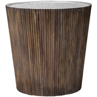 Picture for category Uttermost 25871 Tables Gray Glaze and Honey with Aluminum Jaawood/MDF/Plywood/Aluminium Amra