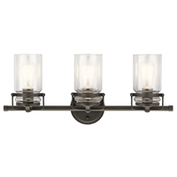 Picture for category Kichler Lighting 45689OZ Bath Lighting Olde Bronze Steel Brinley